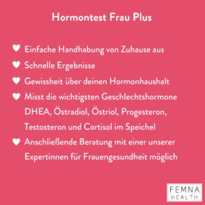 Hormontest Frau Plus Vorteile
